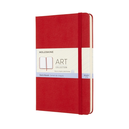moleskine sketchbook scarlet red