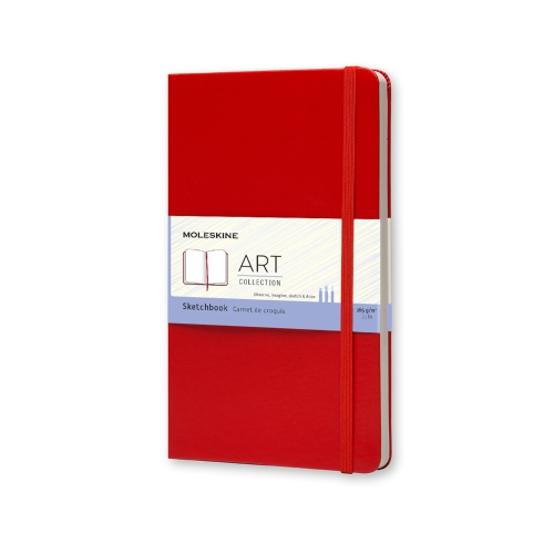 moleskine sketchbook red